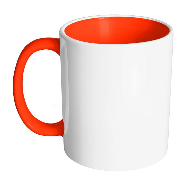 لیوان دسته رنگی و داخل رنگی